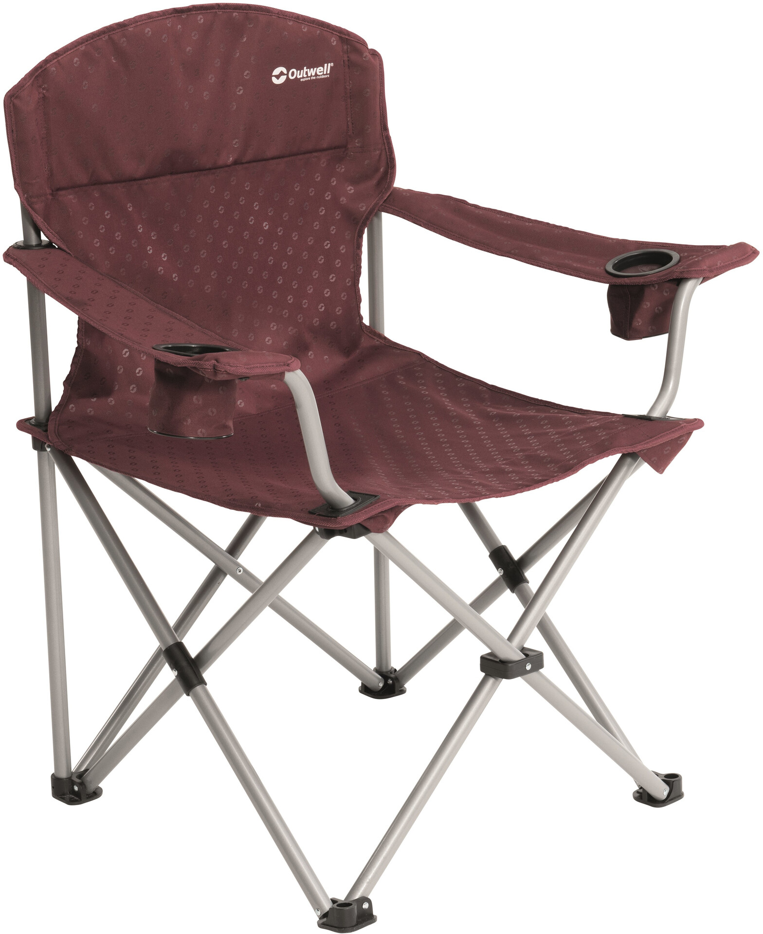 Outwell Catamarca Chaise avec accoudoirs XL, claret